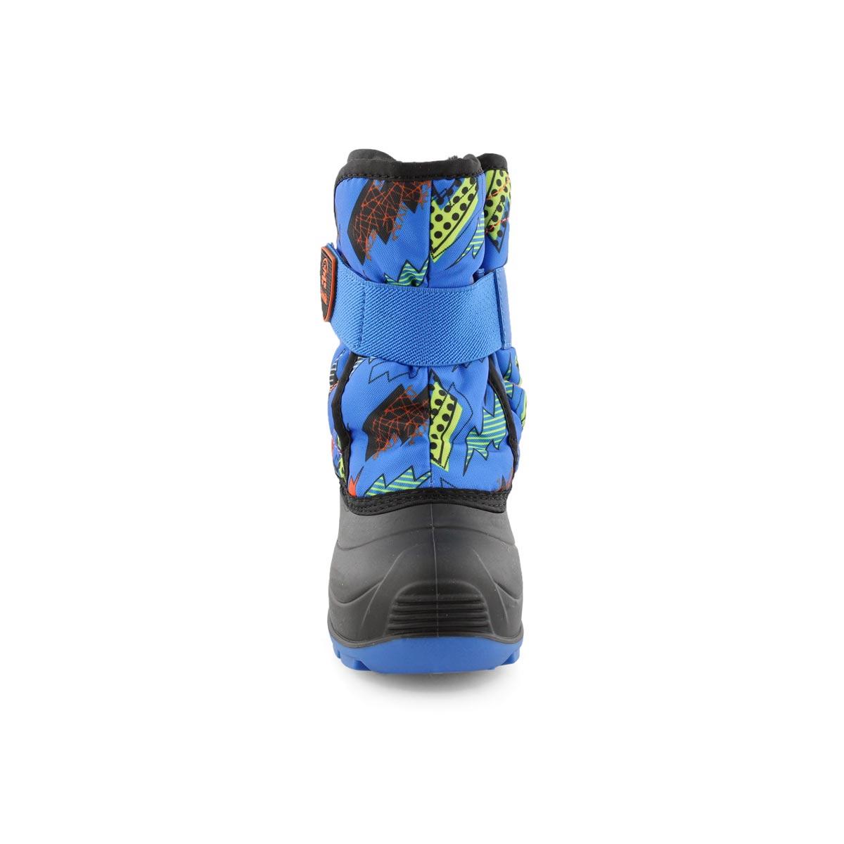 Infants' SNOWBUG4 blue/orange wtpf winter boots