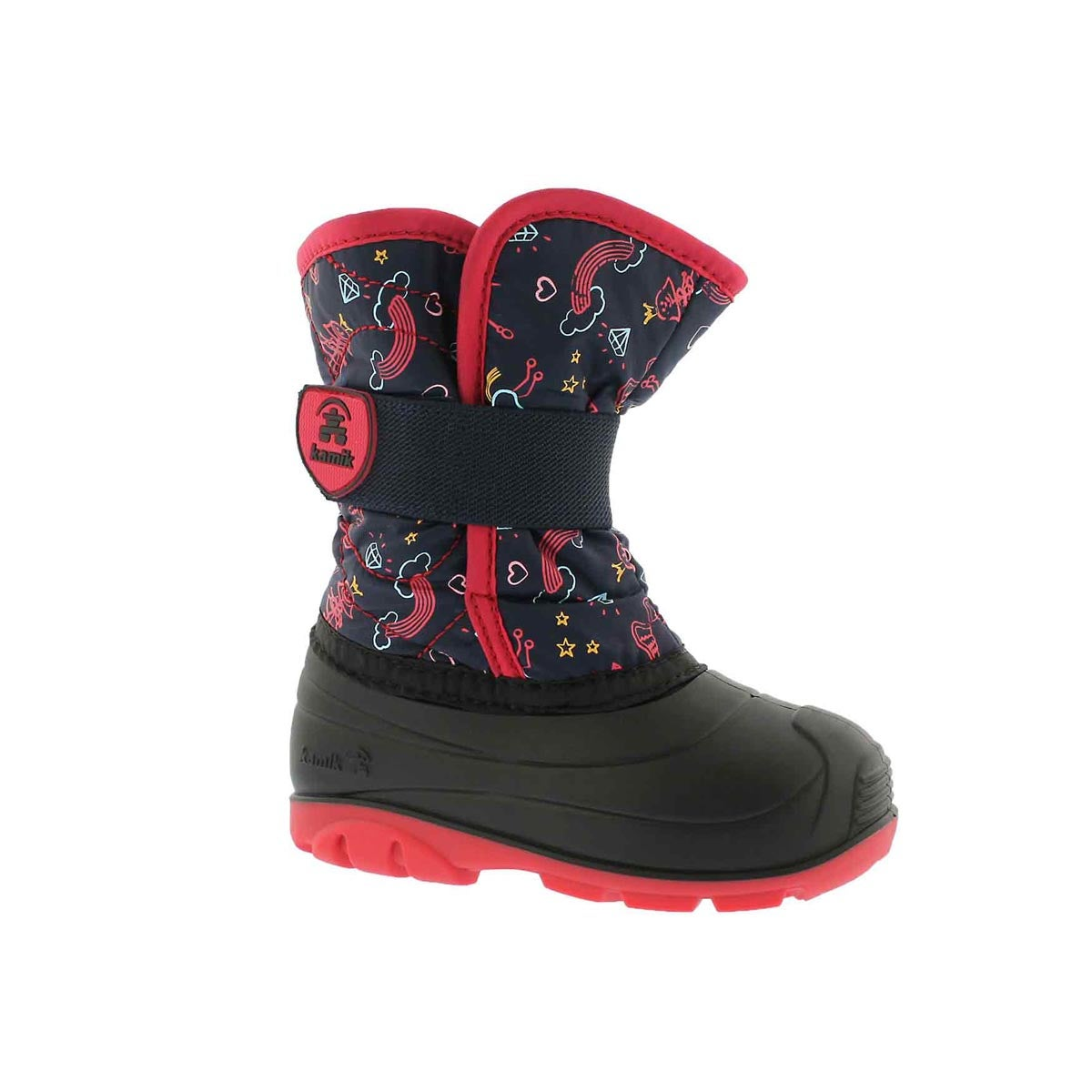 Infants' SNOWBUG 4 nvy/pnk waterproof winter boots