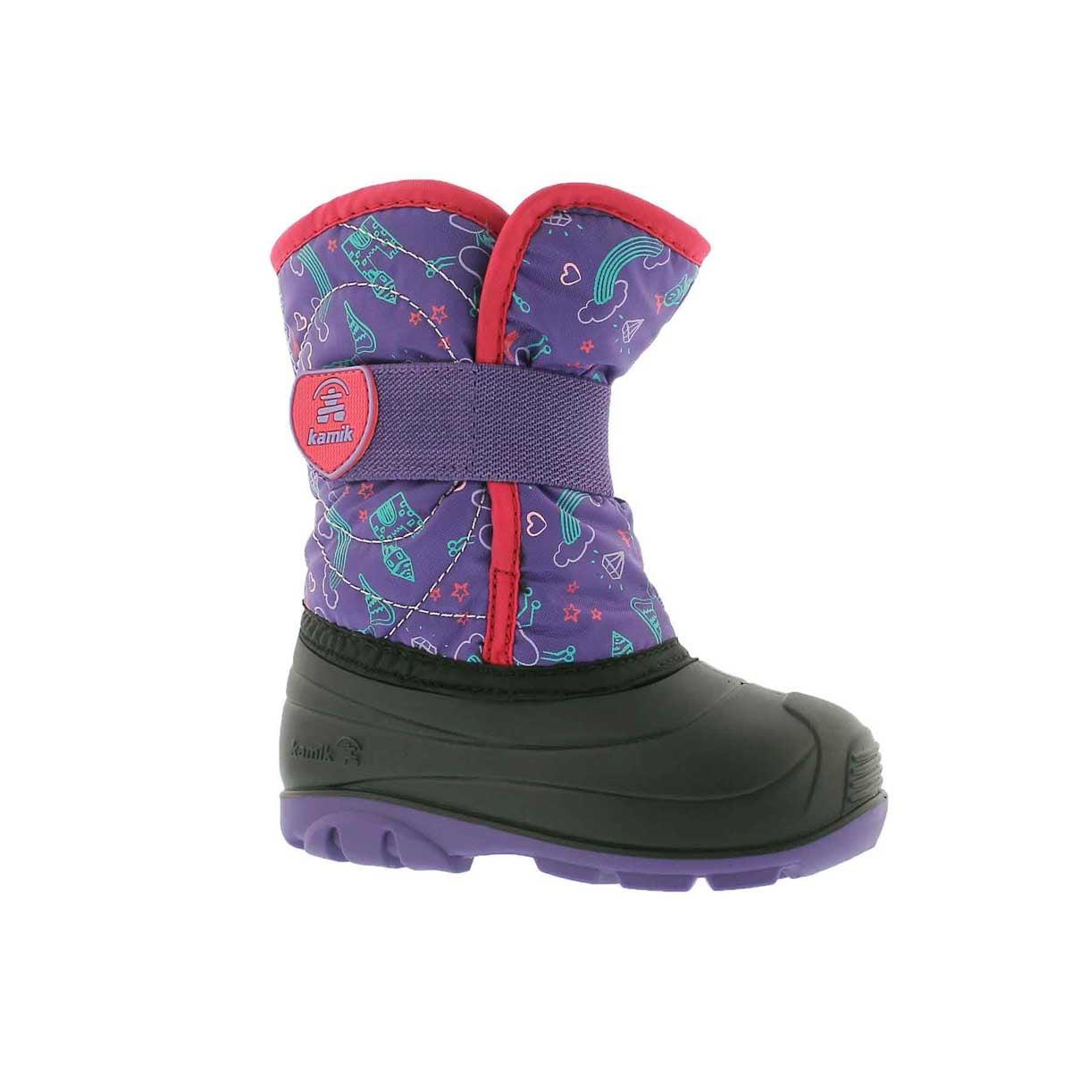 Infants' SNOWBUG 4 purple waterproof winter boots