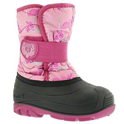 Kamik Bottes d'hiver SNOWBUG4, imprimé rose, bébés