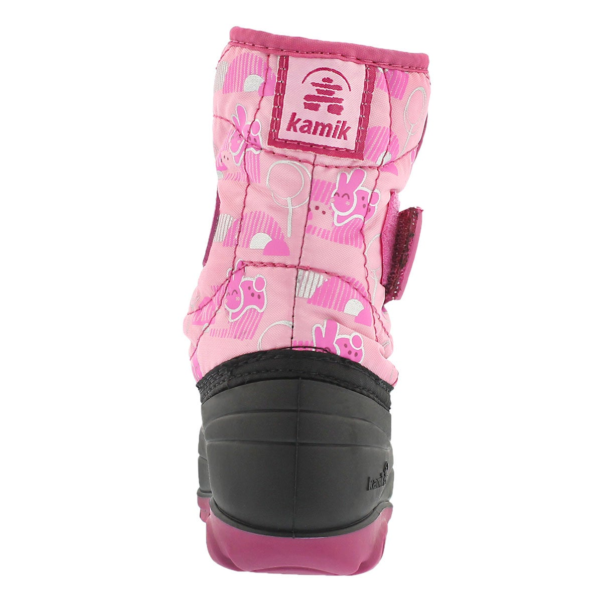 Infs Snowbug4 pink printed winter boot