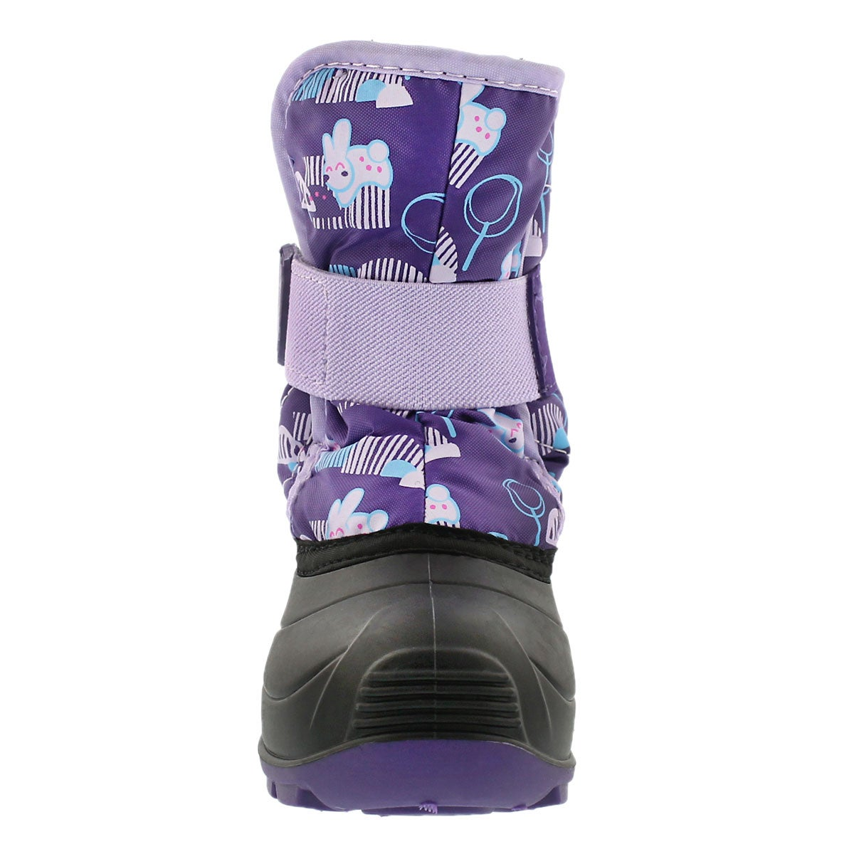 Infs Snowbug4 purple printed winter boot