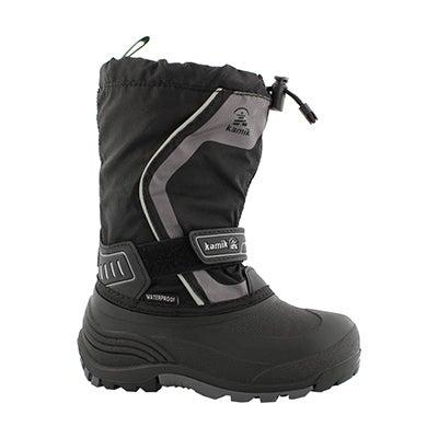 Bys Snowcoast3 blk/char wtpf winter boot