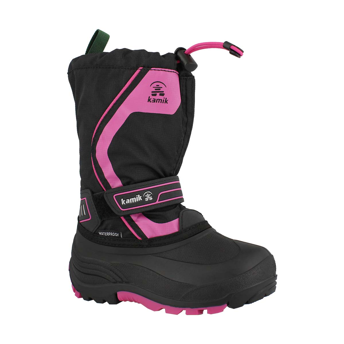 Grls Snowcoast3 blk/mgta wp winter boot