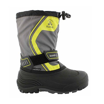 Bys Snowcoast3 char/ylw wtpf winter boot