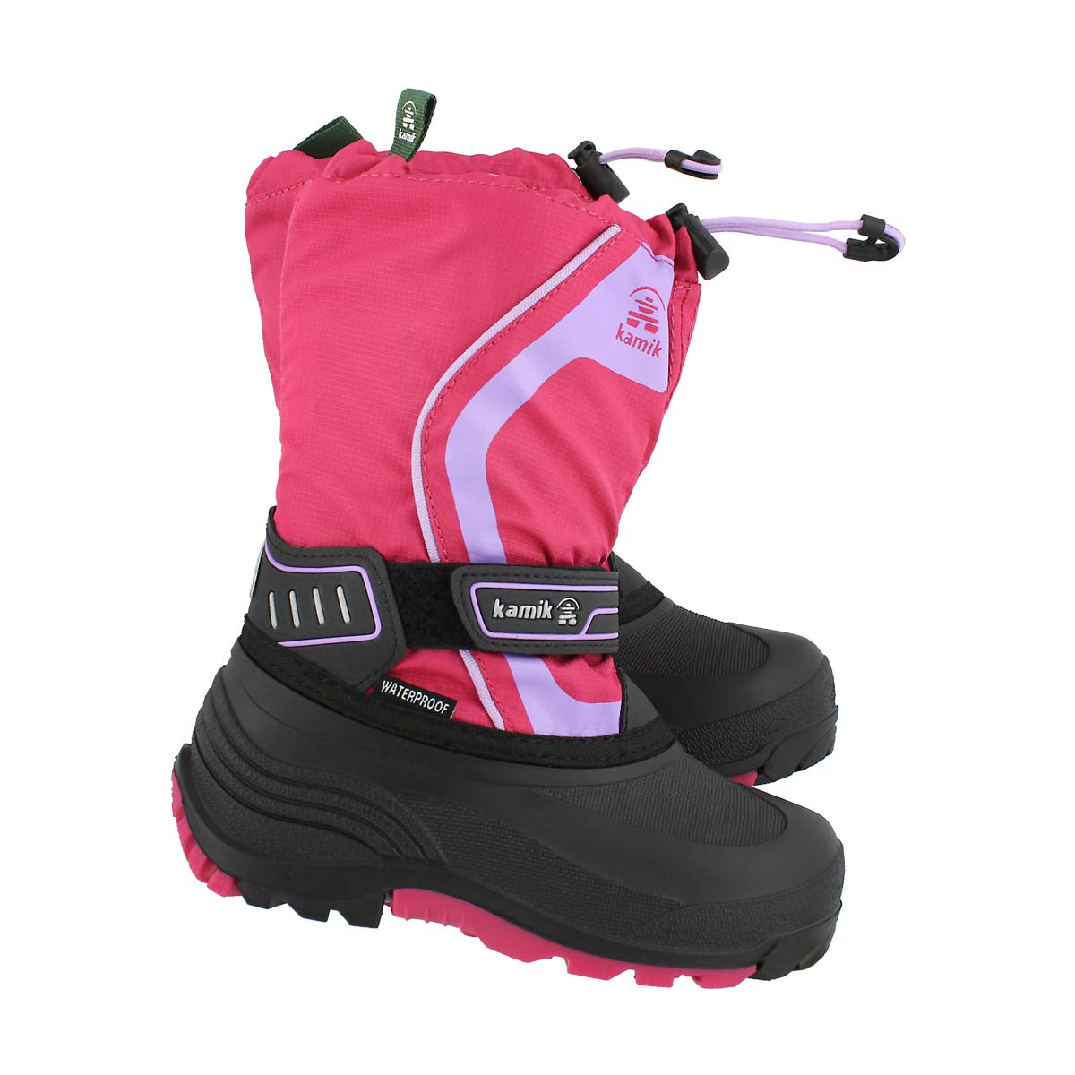 Grls Snowcoast3 rse/lvndr wp winter boot