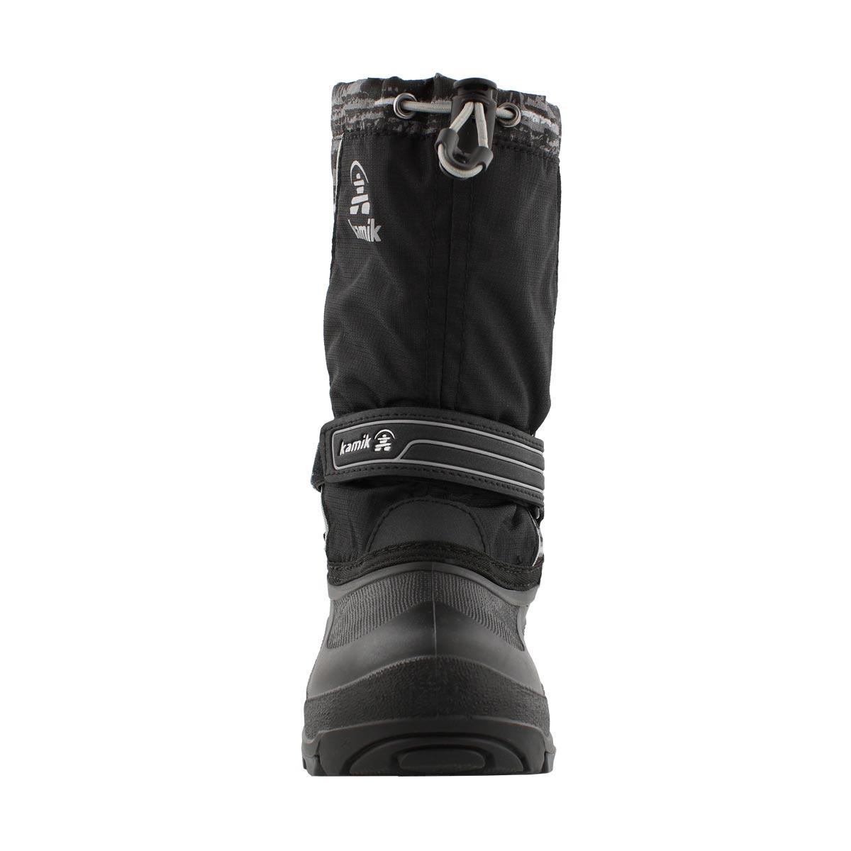 Bys SnowcoastP blk/char wtpf winter boot