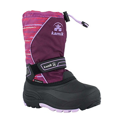 Grls SnowcoastP grape/lav wp winter boot