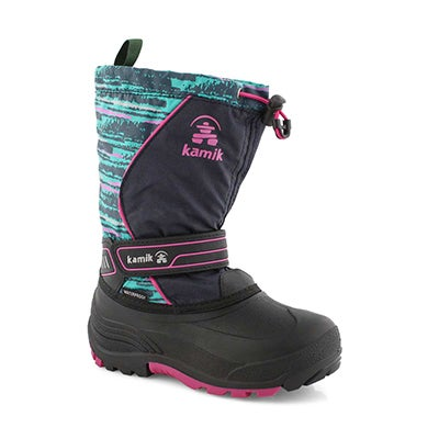 Grls SnowcoastP nvy/teal wtp winter boot