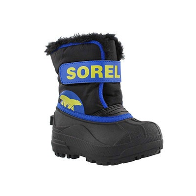 Sorel Infants' SNOW COMMANDER black/blue boots
