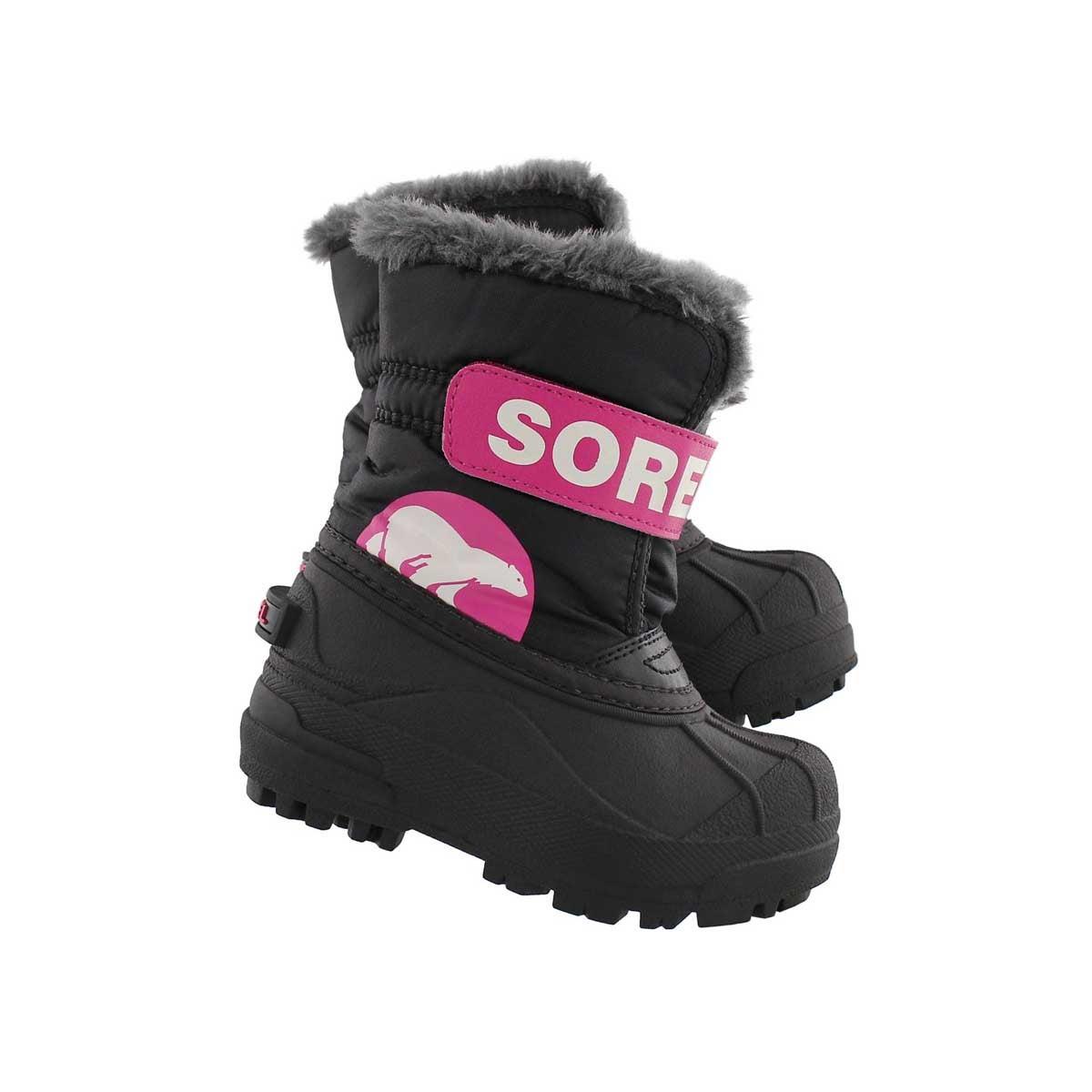Inf Snow Commander blk/pnk boot