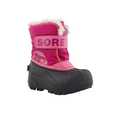 Sorel Infants' SNOW COMMANDER pink/blush boots