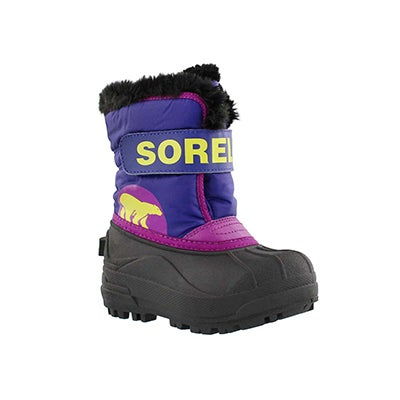 Sorel Infants' SNOW COMMANDER grape/plum boots