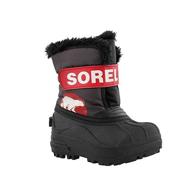 Sorel Infants' SNOW COMMANDER dark grey/red boots