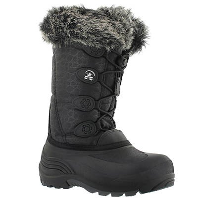 Kamik Girls' SNOWGYPSY black winter boots