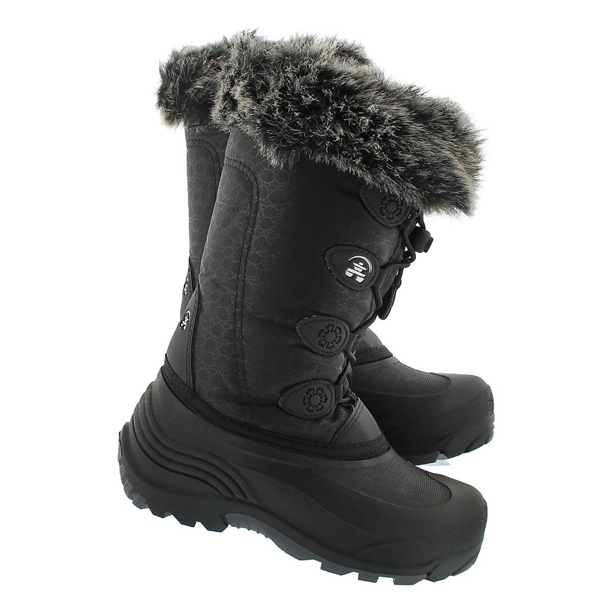Botte d'hiver SNOWGYPSY, noir, filles