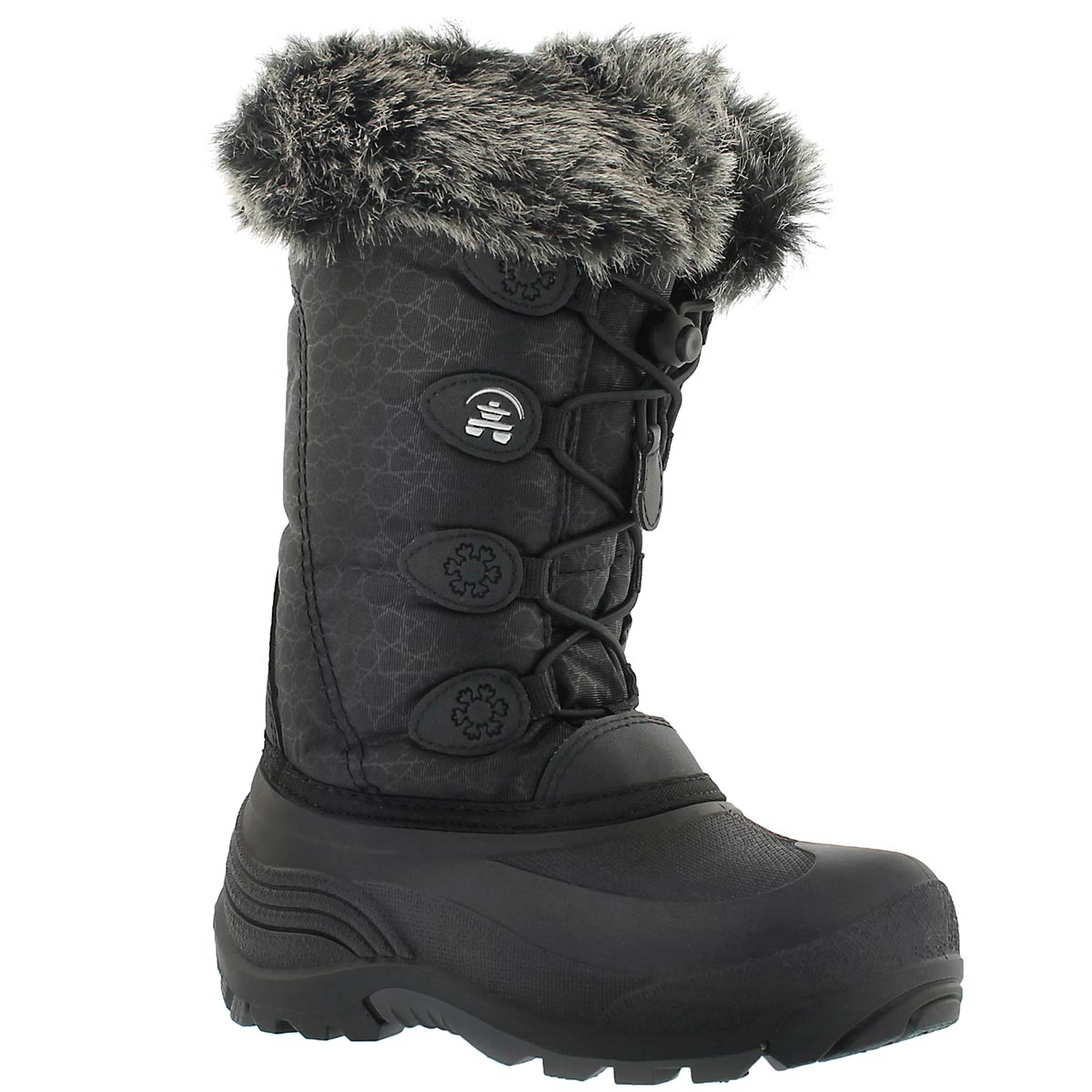 Girls' SNOWGYPSY black winter boots