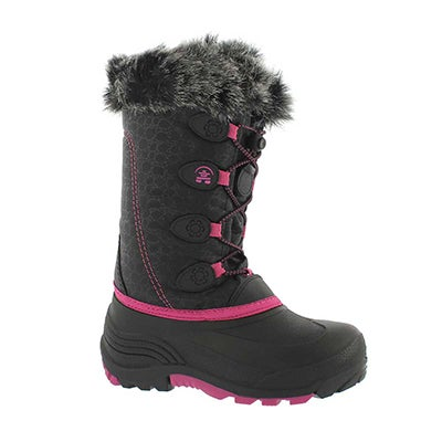 Grls Snowgypsy blk/mgnta winter boot