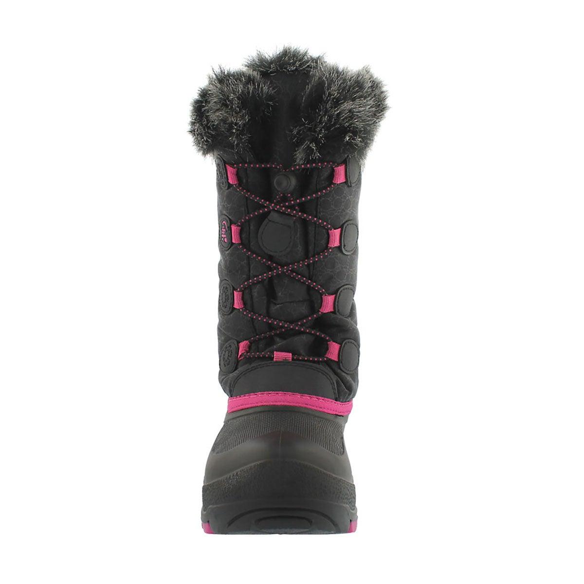 Grls Snowgypsy blk/mgnta winter boot