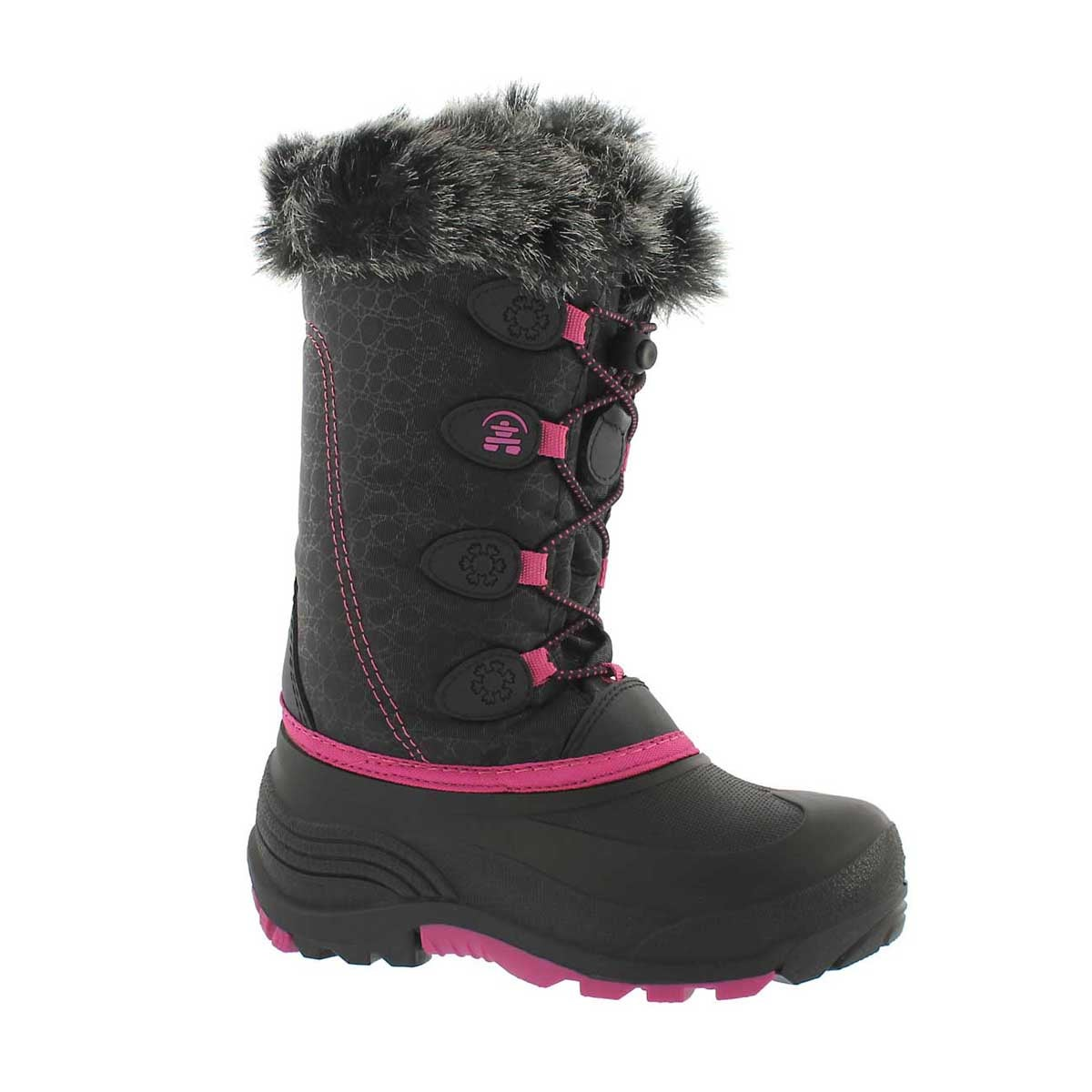 Girls' SNOWGYPSY black/magenta winter boots