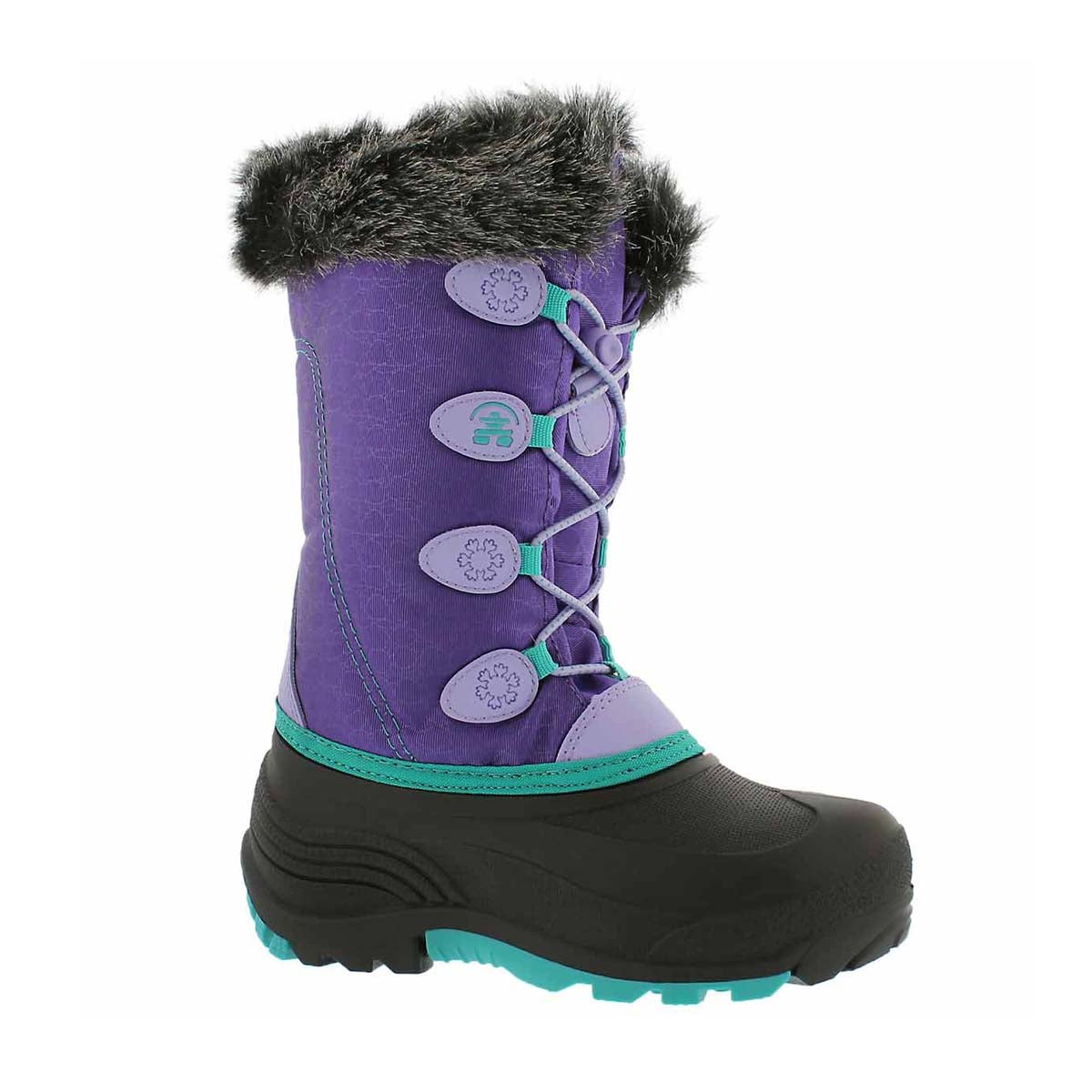 Girls' SNOWGYPSY purple winter boots