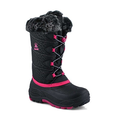 Grls Snowgypsy 3 blk/rose wp winter boot
