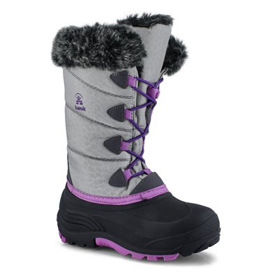 Grls Snowgypsy 3 grey wtpf winter boot