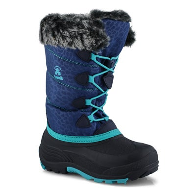 Grls Snowgypsy 3 navy wtpf winter boot