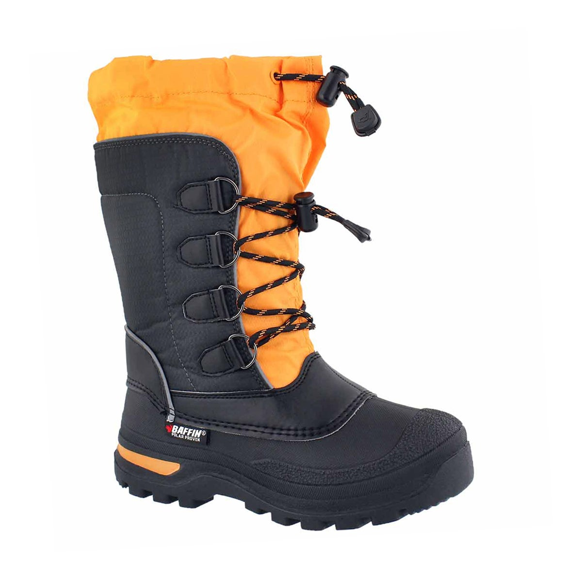 Boys' PINETREE charcoal/orange waterproof boots