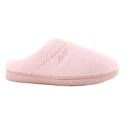 Lds Snuggle pink open back mem foam slpr