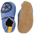 Inf Soccer Boy blue soft sole slipper