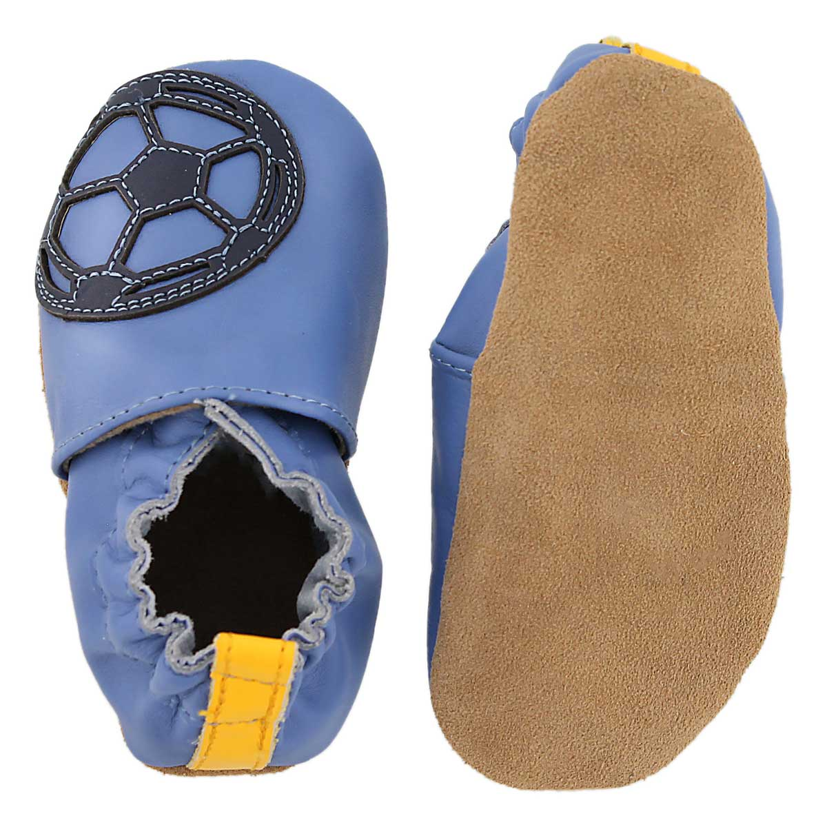 Inf Soccer Boy blue soft sole slipper