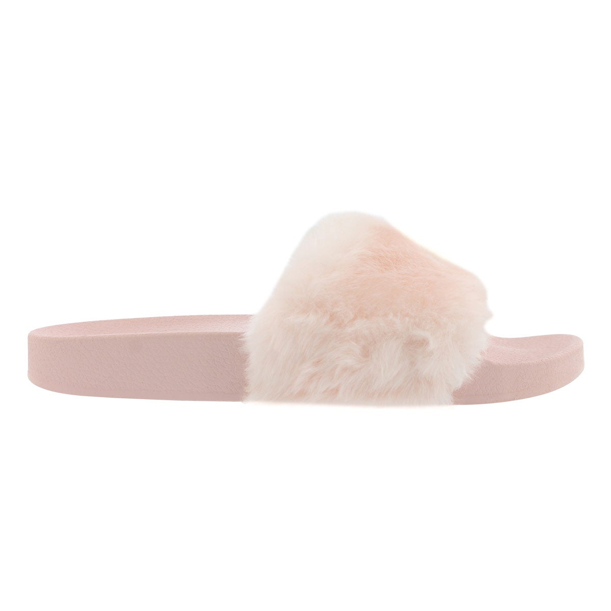dae845d092c Women's SOFTEY pink faux fur slide sandals