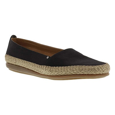 Aerosoles Women's SOLITAIRE black canvas flats