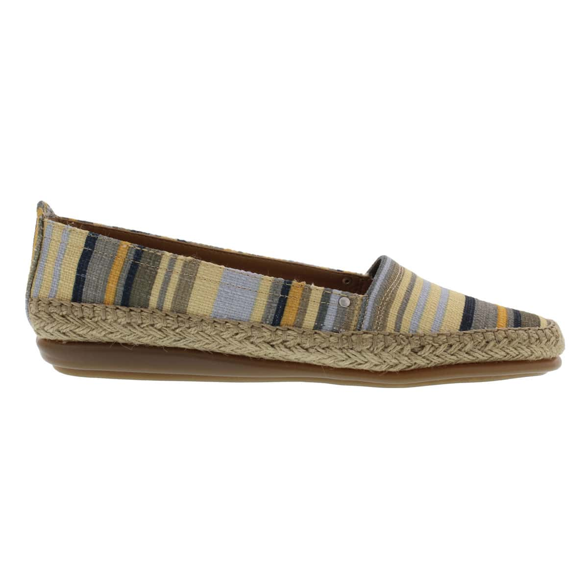 Lds Solitaire green stripes canvs flat
