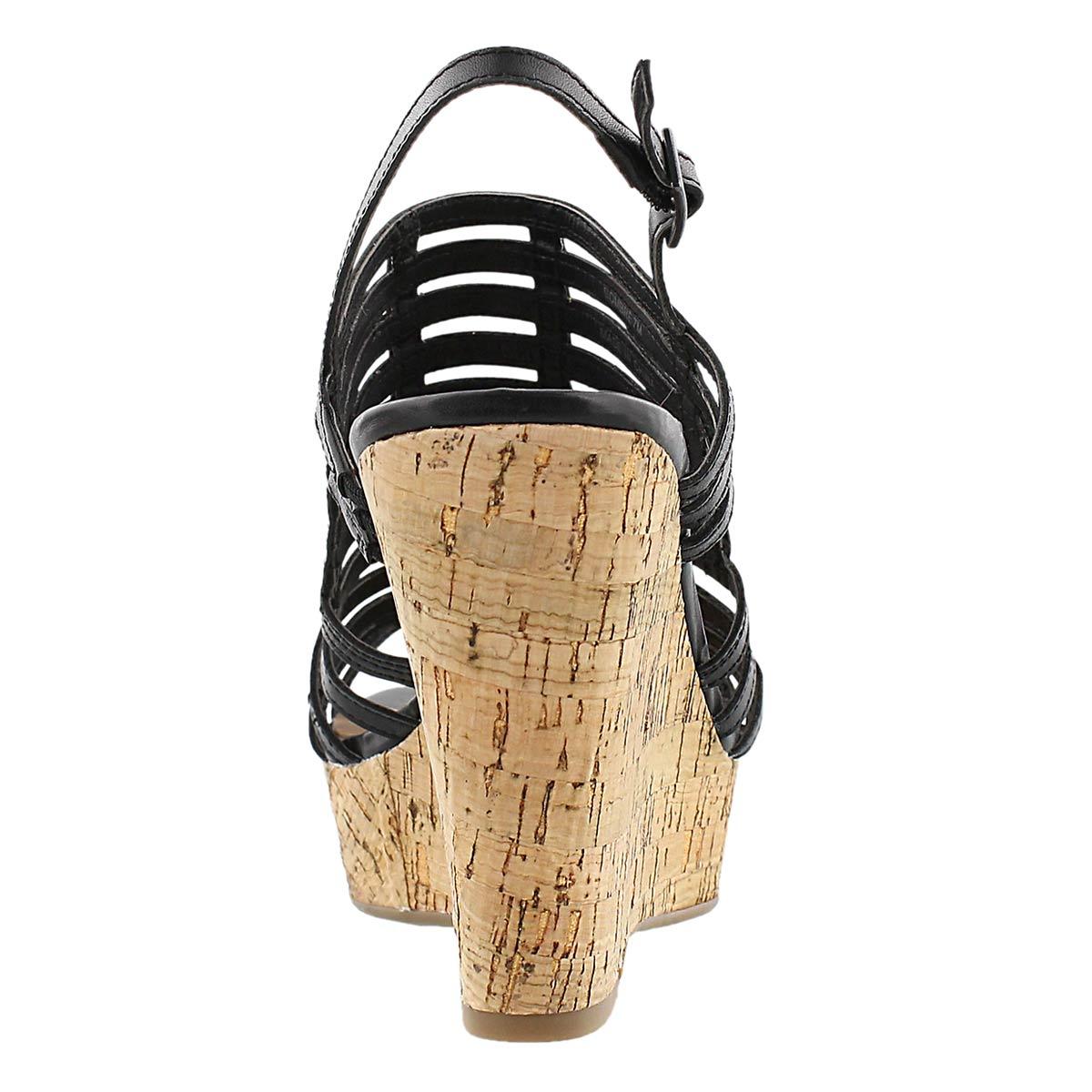 Sandale à talon comp. Sombre, noir, fem