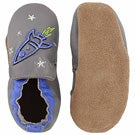 Inf Space and Stars gry/blu soft slipper
