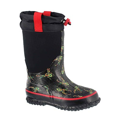Bys Spider blk wtpf pull on winter boot