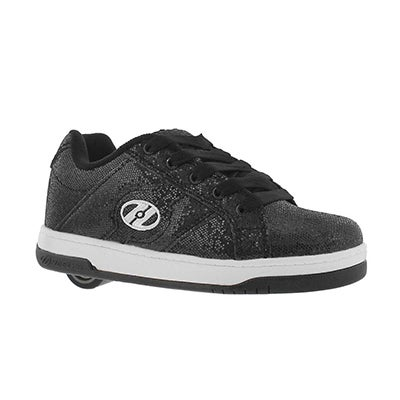 Grls Split black disco skate sneaker
