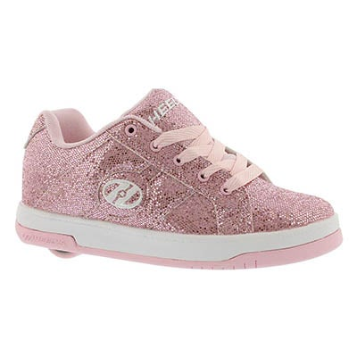 Heelys Girls' SPLIT pink disco skate sneakers