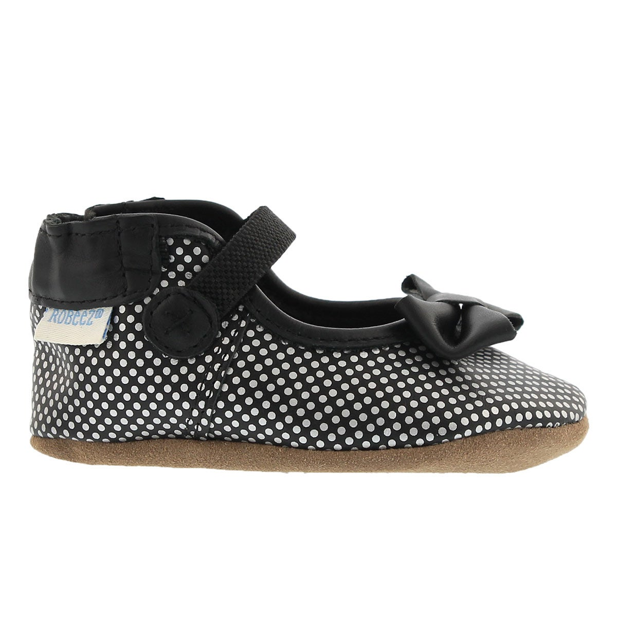 Infs Spotted Shannon MJ blk slipper