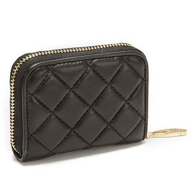 S-Q Women's 1518LE black fanned card holder