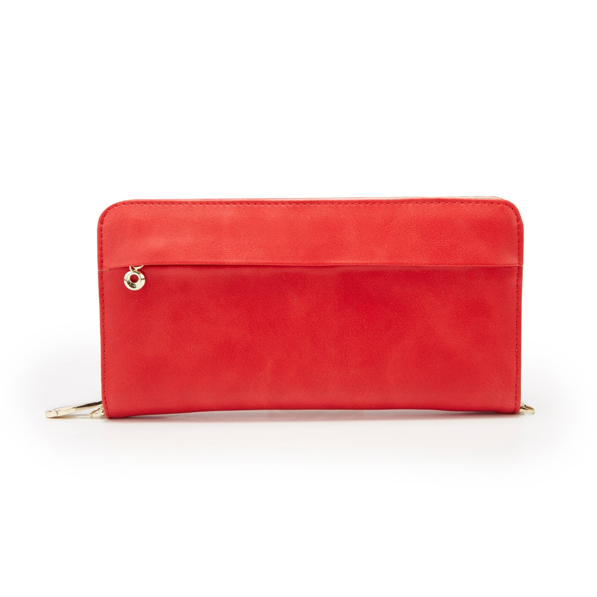 Lds red zip around convertible wallet