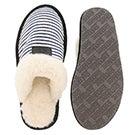 Lds Stacey navy stripe mem. foam slipper