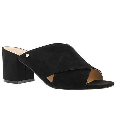 Lds Stanley black slide dress sandal