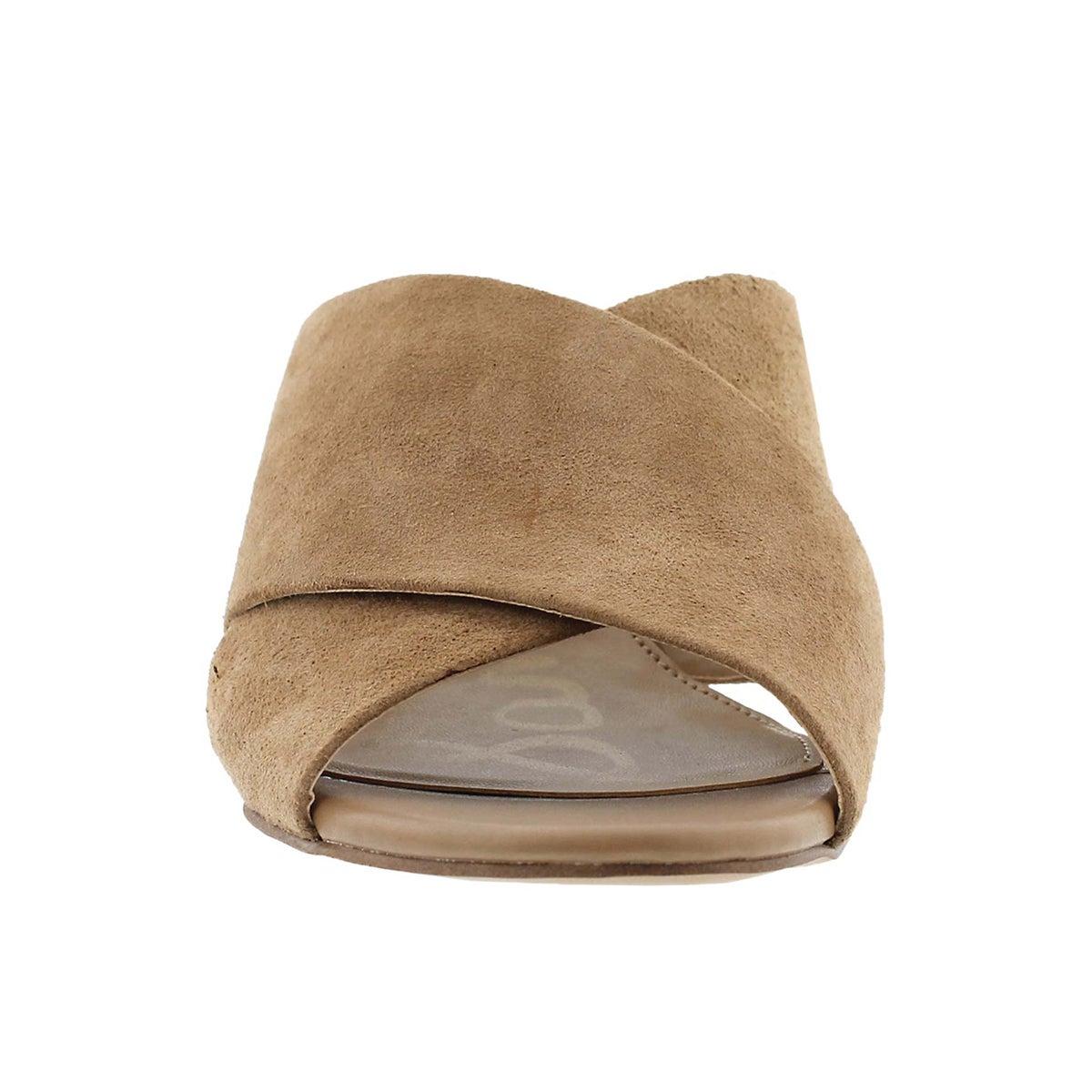 Lds Stanley oatmeal slide dress sandal