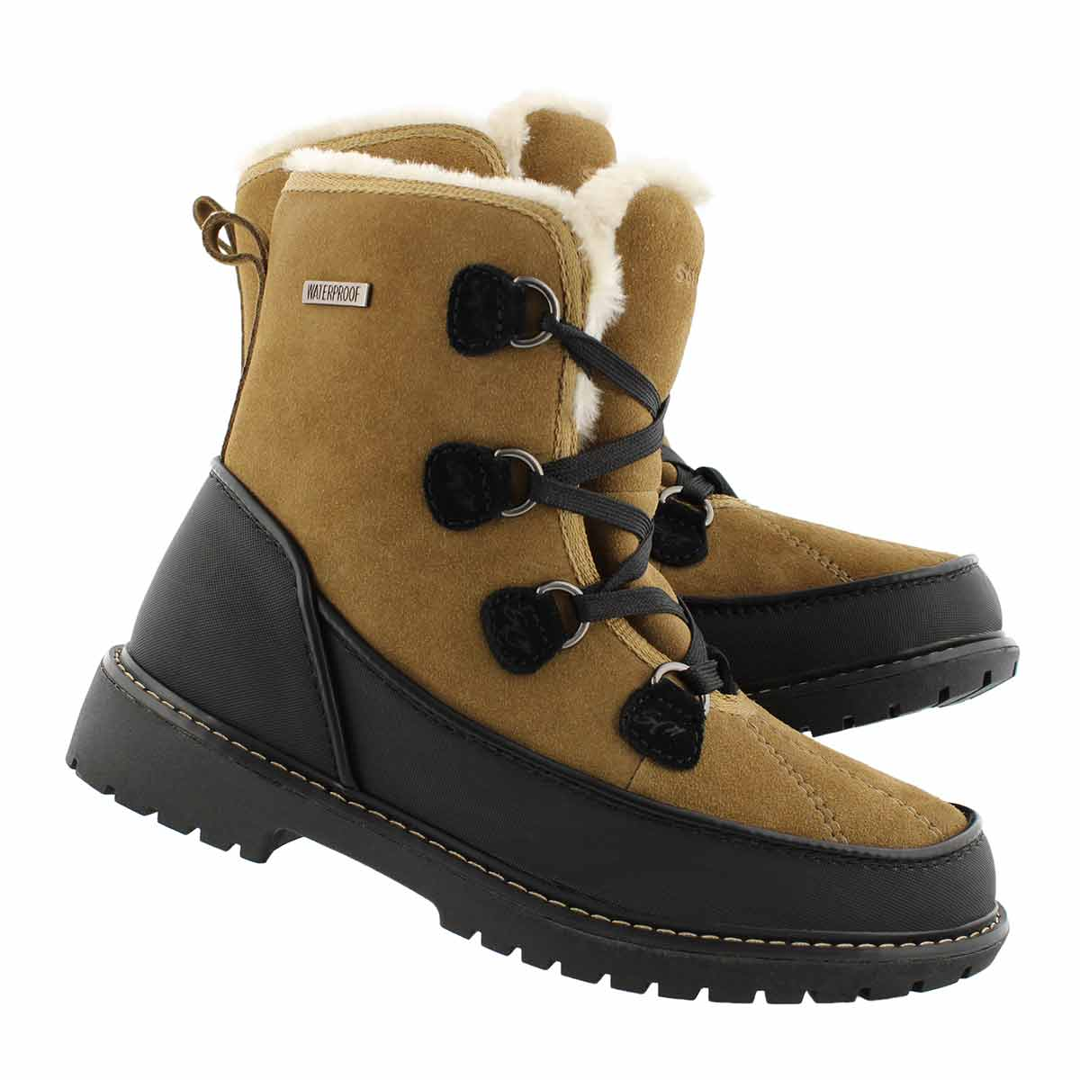 Lds Stephanie taupe suede WP winter boot