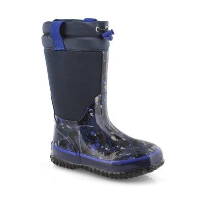 Bys Sticks navy wtpf pull on winter boot