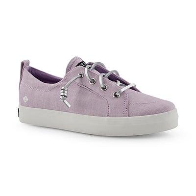 Grls Crest Vibe lavender fashion sneaker