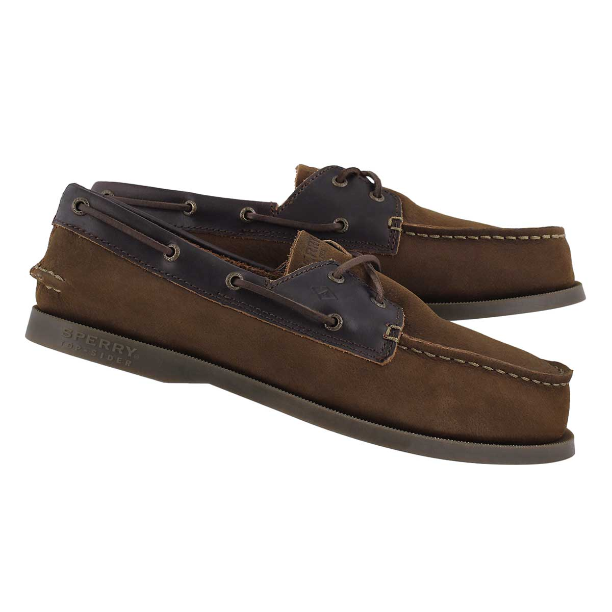 Bys A/O brown buck boat shoe